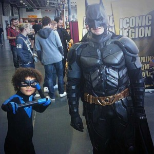 Jim's son Reeve as Nightwing alongside Batman!