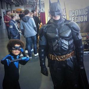 Jim's son Reeve as Nightwing alongside Batman!